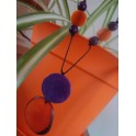 Collier chip orange violet
