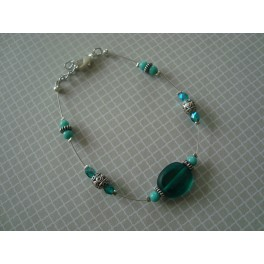 Bracelet vert émeraude