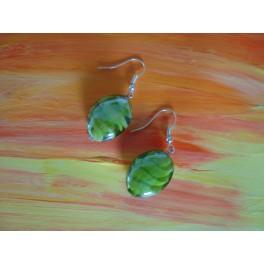 Boucles d'oreilles vert