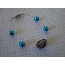 Bracelet turquoise - gris