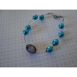 Bracelet truquoise et gris