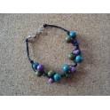 Bracelet Açaïs vert et violet