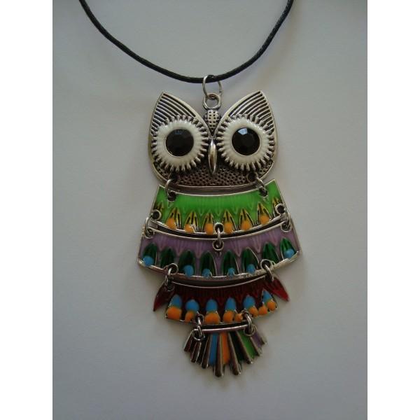 Collier pendentif hibou chouette pas cher en ligne - Materiel creation bijoux pas cher ...