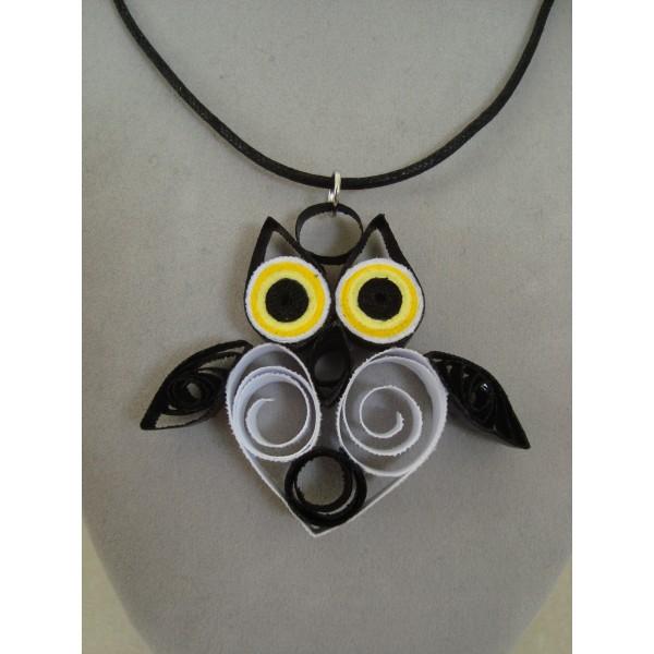 Pendentif hibou chouette quilling en ligne - Materiel creation bijoux pas cher ...