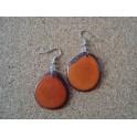 Boucles d'oreille Chips Orange