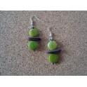 Boucles d'oreille Coco vert