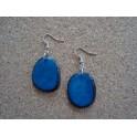 Boucles d'oreille Chips Bleu