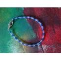 Bracelet bleu et mauve
